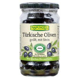 Rapunzel Bio schwarze Oliven mit Stein geölt (432ml)