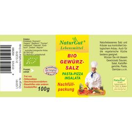 NaturGut Nachfüllpackung-Gewürzsalz Pasta Pizza Insalata Bio (100g)