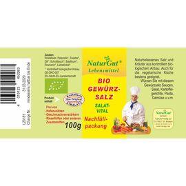 NaturGut Nachfüllpackung-Gewürzsalz Salat Bio (100g)