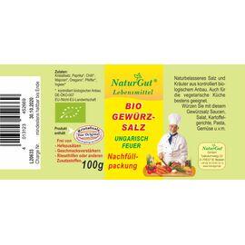 NaturGut Nachfüllpackung Gewürzsalz Ungarisch Feuer Bio (100g)
