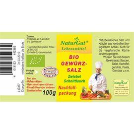 NaturGut Nachfüllpackung Gewürzsalz Zwiebel Bio (100g)
