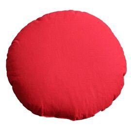 NaturGut Yoga Meditationskissen (rund, Ø ca. 45cm, Uni Rot, gefüllt mit Bio Buchweizen)