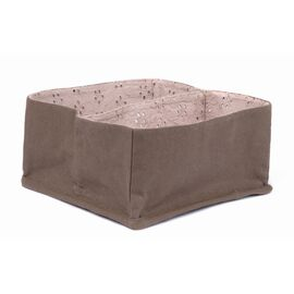 "El Puente Bad-Organizer aus Baumwolle ""Earth & Stone"" (Taupe/Graubraun, 20,5x20,5cm)"