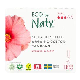 ECO by Naty Bio Tampon (Super, 18 Stück)