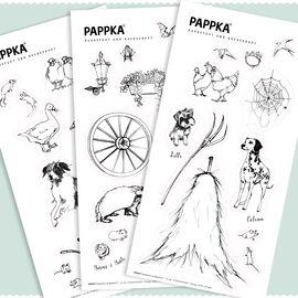 FairFox PAPPKA Stickerset Bauernhof zum Ausmalen 35 Teile