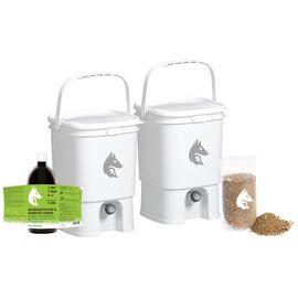 Bokashi Kompost Komplett-Set Profi weiß