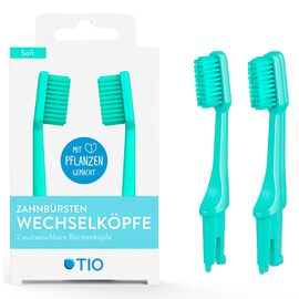 TIO - Zahnbürsten-Wechselköpfe (Lagune, soft)